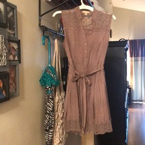 Khaki Tan Sleeveless Top Size Medium